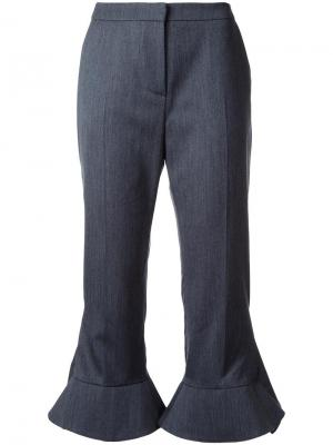 Укороченные брюки с оборками Goen.J. Цвет: серый