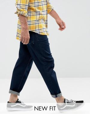 ASOS Расклешенные джинсы цвета индиго. Цвет: синий