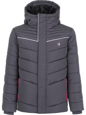 Куртка FILA. Цвет: темно-серый