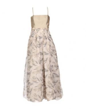 Длинное платье ARMANI COLLEZIONI. Цвет: серый