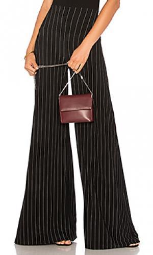 Тонкие брюки в полоску Norma Kamali. Цвет: черный
