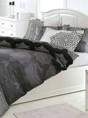 Комплект постельного белья OZDILEK. Цвет: серый, черный