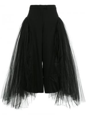 Расклешенные сетчатые брюки Elaidi. Цвет: чёрный