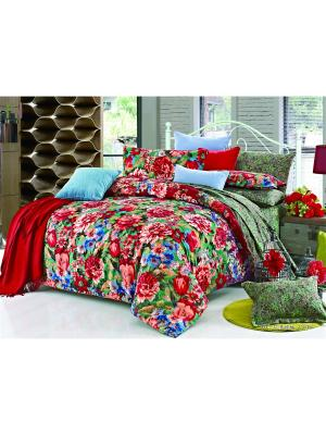 Постельное белье Gipsy 1,5 сп. Amore Mio. Цвет: красный, зеленый, персиковый, синий
