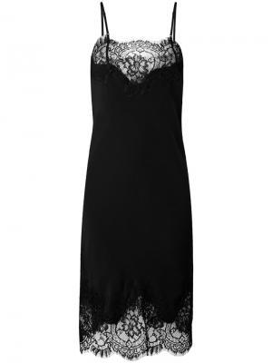 Кружевное платье Coco Gold Hawk. Цвет: чёрный