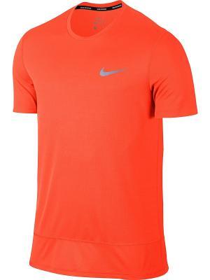 Футболка M BRTHE RAPID TOP SS Nike. Цвет: оранжевый