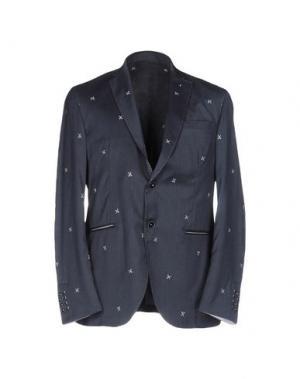 Пиджак ROBERTO PEPE. Цвет: темно-синий