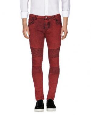 Джинсовые брюки IMB I'M BRIAN. Цвет: красный