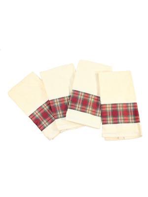 Четыре полотенца для рук 61х44 см Blonder Home. Цвет: светло-желтый
