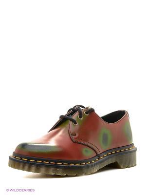 Ботинки Dr.Martens. Цвет: зеленый, красный