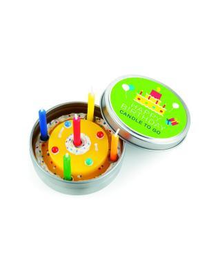 Набор из 6-ти свечек Happy Birthday Donkey. Цвет: желтый