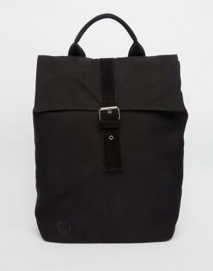 Mi-Pac Черный парусиновый рюкзак. Цвет: черный