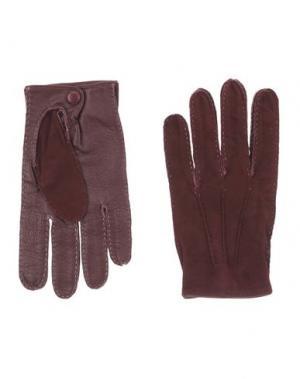 Перчатки DSQUARED2. Цвет: темно-фиолетовый