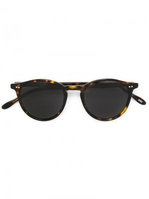 Солнцезащитные очки Pantos Paris. Цвет: коричневый