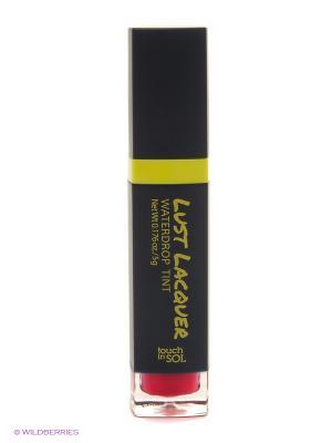 Глянцевый тинт для губ Lust Laquer №3 Queen Mab ,5г Touch in sol. Цвет: малиновый