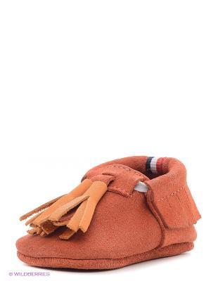 Пинетки U.S. Polo Assn.. Цвет: оранжевый