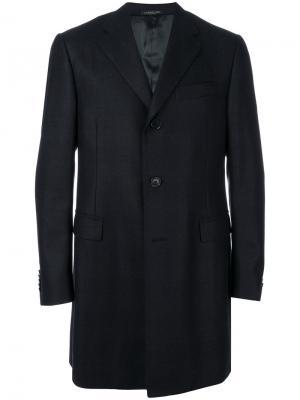 Single breasted coat Corneliani. Цвет: синий