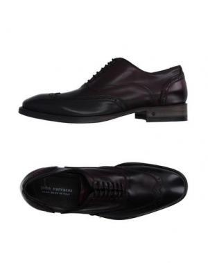 Обувь на шнурках JOHN VARVATOS. Цвет: темно-фиолетовый