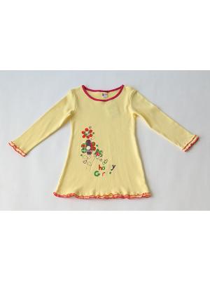 Ночная сорочка Iota. Цвет: желтый