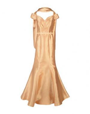 Длинное платье MUSANI COUTURE. Цвет: песочный