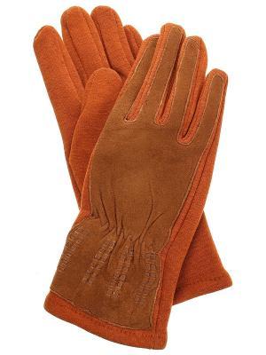 Перчатки Migura. Цвет: коричневый, оранжевый