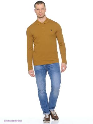 Лонгслив U.S. Polo Assn.. Цвет: светло-коричневый
