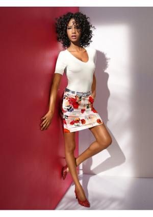 Моделирующая юбка Ashley Brooke. Цвет: с рисунком