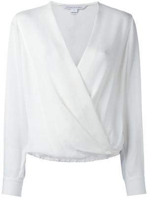Блузка с V-образным вырезом и запахом Dvf Diane Von Furstenberg. Цвет: белый