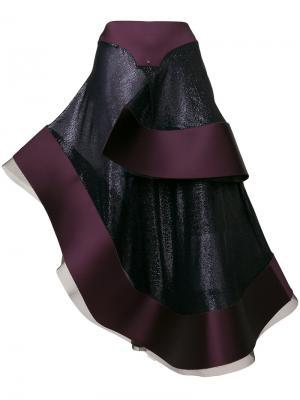 Асимметричная сумка Esteban Cortazar. Цвет: розовый и фиолетовый
