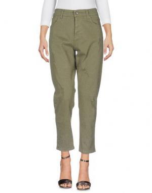 Джинсовые брюки SOUVENIR. Цвет: зеленый-милитари