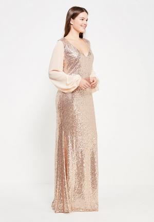 Платье Goddiva Size Plus. Цвет: золотой