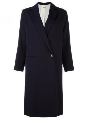 Двубортное пальто Masscob. Цвет: синий