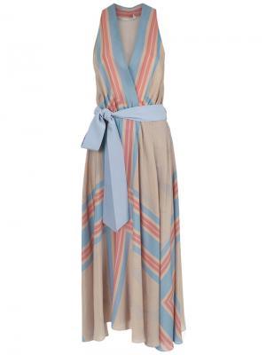 Printed silk dress Giuliana Romanno. Цвет: синий