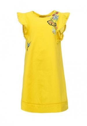 Платье Catimini. Цвет: желтый
