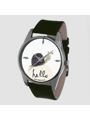 Часы Mitya Veselkov. Цвет: темно-зеленый, белый, черный, зеленый