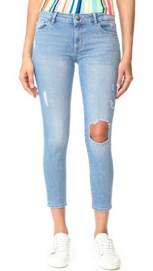 Укороченные джинсы-скинни Florence DL1961. Цвет: clifton