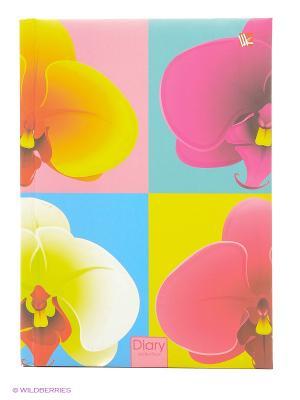 Ежедневник с поролоном А5-, 160 листов Орхидеи Канц-Эксмо. Цвет: сиреневый