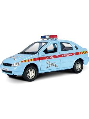Машина LADA KALINA служба аэропорта AUTOTIME. Цвет: голубой