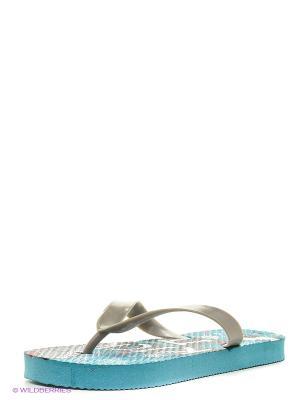 Пляжная обувь детская Mon Ami. Цвет: зеленый