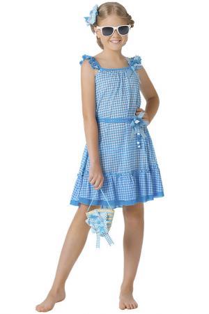 Платье пляжное, сумочка Arina Festivita by Lora Grig. Цвет: голубой
