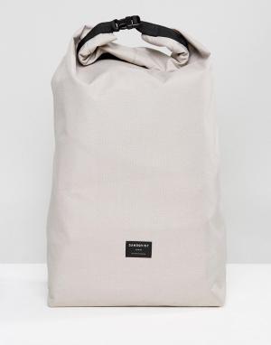 Sandqvist Серый рюкзак из ткани рипстоп Lova. Цвет: серый