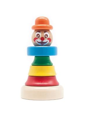 Клоун пирамидка БОМИК. Цвет: бежевый