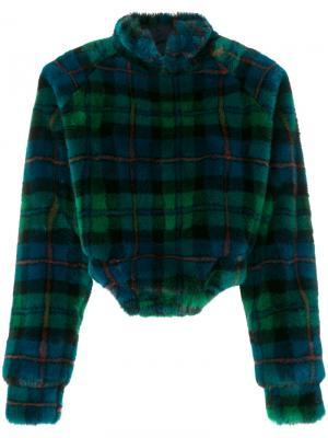 Фактурный свитер в клетку Esteban Cortazar. Цвет: многоцветный