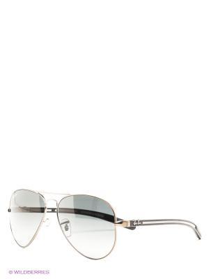 Очки солнцезащитные AVIATOR TM CARBON FIBRE Ray Ban. Цвет: серебристый, антрацитовый