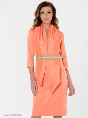 Платье Elena Shumilo. Цвет: персиковый