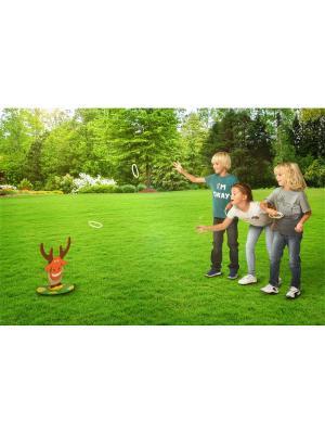 Игра  Кольцеброс - Дикий веселый лось ЯиГрушка. Цвет: бежевый