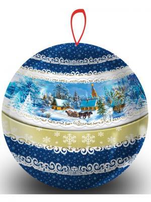Чай Hilltop Земляника со сливками 80г., шарик Зимняя сказка. Цвет: синий