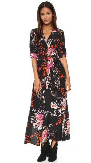 Шелковое макси-платье Museum Row Yumi Kim. Цвет: фейерверк