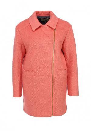 Пальто Yumi. Цвет: коралловый