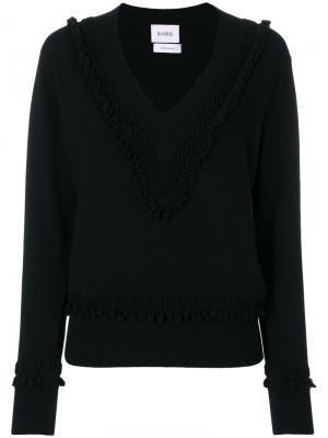 Textured detail V-neck jumper Barrie. Цвет: чёрный